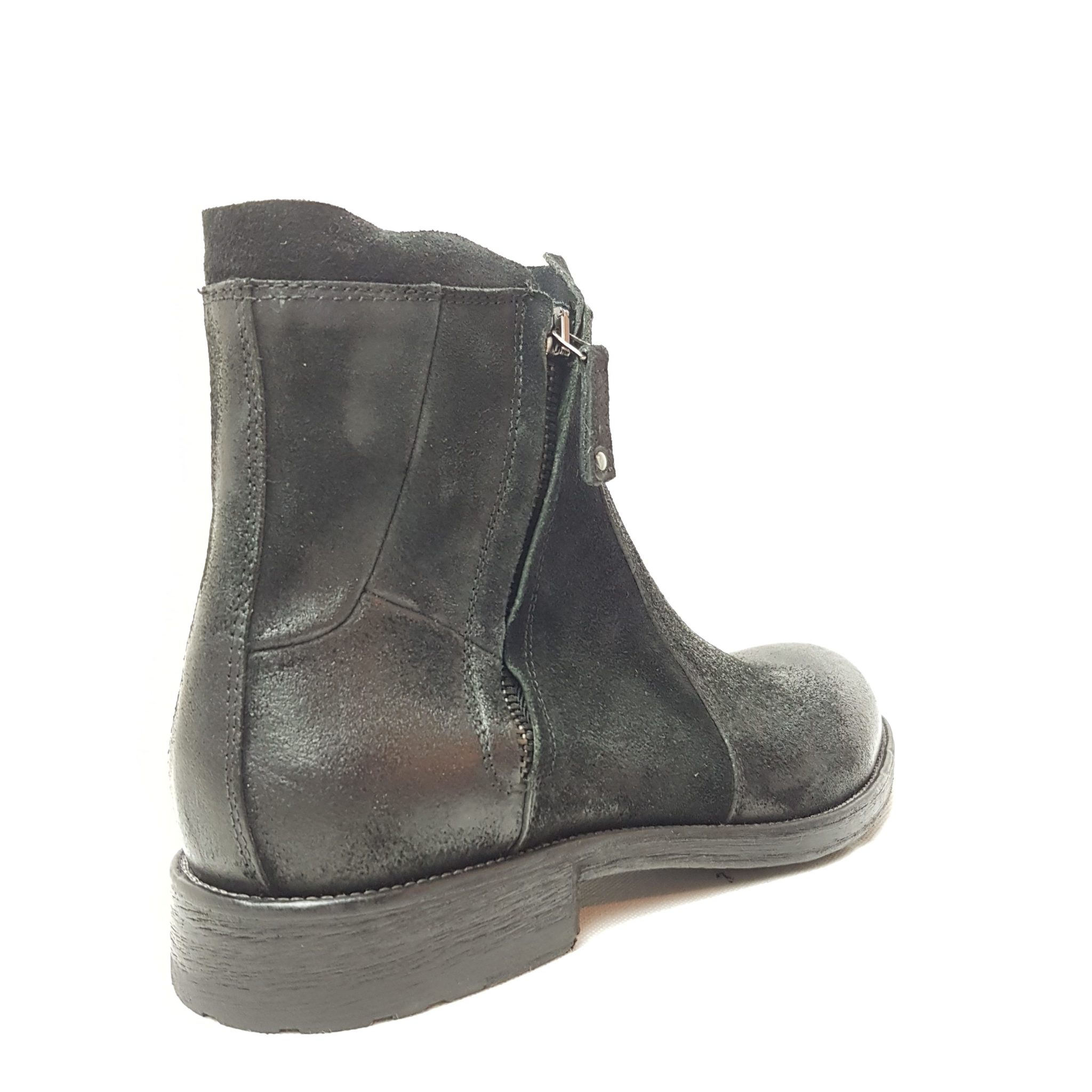 hot sale online f01f7 acb32 Hundred 100 mod. M839-18 stivaletto nero doppia zip